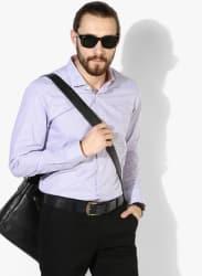 Lavender Checked Slim Fit Formal Shirt