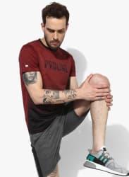 Maroon Round Neck T-Shirt