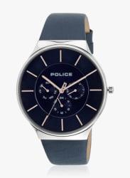 Pl15044js03 Blue/Blue Analog Watch