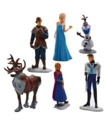 Civil Frozen Characters Large Size 12CM Action Figures - Set of 6 Doll Toys Cake Toppers Anna Elsa Kristoff Olaf Sven (Multicolor)