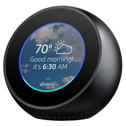 Amazon Echo Spot Smart Bluetooth Speaker (Black)