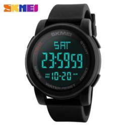 SKMEI Men Sport LED Digital Watch Water Resistance Running Wristwatch