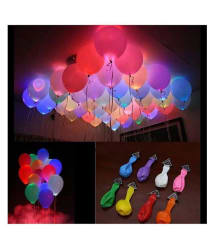 Junos LED Balloons Pack Of 50 - Multi Color