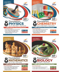 Foundation PCMB (Science + Maths) for IIT-JEE/ NEET/ Olympiad Class 8 - set of 4 books - 4th Edition