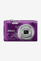 Nikon Coolpix A100 20.1 MP Point & Shoot Camera 16GB Card + Camera Pouch (D.Purple)