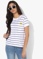 White Striped T Shirt