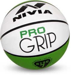 Nivia Pro Grip Basketball - Size: 7 Pack of 1, Green