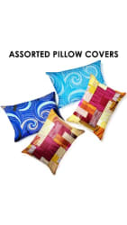 Story@Home Cotton Geometric Pillow Covers ( Set Of 4 , Assorted )