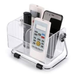 Multifunctional Home Storage Stand Shelf TV Remote Control Clear Holder