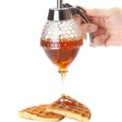 Honey AND Syrup Dispenser Honey Dispenser Jar Container Plastic Acrylic Storage