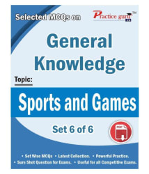 Selected MCQs on GK - Sports and Games Set 6 of 6 Downloadable Content