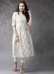 Cream Printed Kurta