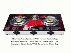 Surya Crystal 3 Burner Auto Ignition Gas Stove