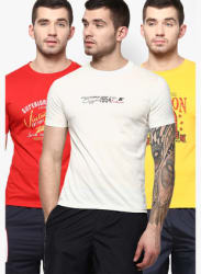 Pack Of 3 Multicoloured Round Neck T-Shirt