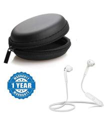 Tronomy S-6 Sports In Ear Wireless Earphones With Mic White