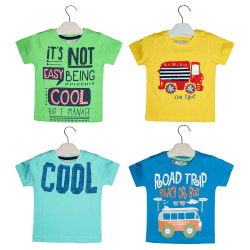 Kothari Baby boys Cotton printed tshirt combo pack of 4