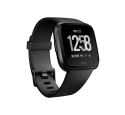 Fitbit Versa Smart Watch One Size (S & L Bands Included) - Black