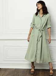 Grey Solid Dresses