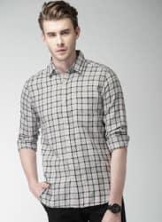 Grey Checked Casual Shirt