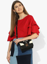 Red Solid Blouse