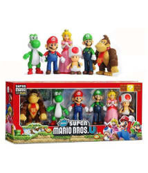 Pepperonz 6 In 1 Super Characters Action Figures Toy Set - Multi