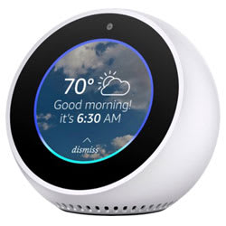 Amazon Echo Spot Smart Bluetooth Speaker (White)