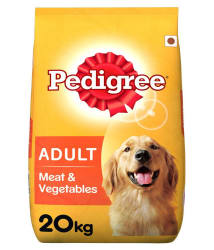 Pedigree Dry Dog Food, Meat & Vegetables for Adult Dogs, 20 kg