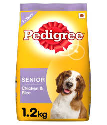 Pedigree Dry Dog Food, Chicken & Rice for Senior Dogs (7 years+), 1.2 kg