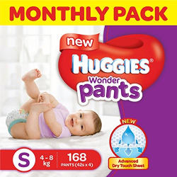 Huggies Wonder Pants Small Size Diapers Monthly Pack (168 Count)