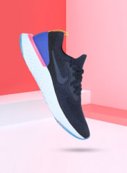 Epic React Flyknit Navy Blue Running Shoes