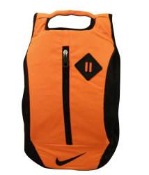 Nike Orange Polyester Laptop Backpack / College Bag- 15 Inch