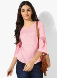 Pink Textured Blouse