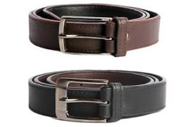 Black and Brown Combo of High Quality Faux Leather Belt
