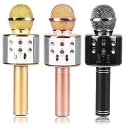 WSTER WS-858 Bluetooth 4.1 Wireless Karaoke Inbuilt Hi-fi Speaker Microphone.HQ