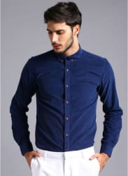 Navy Blue Solid Casual