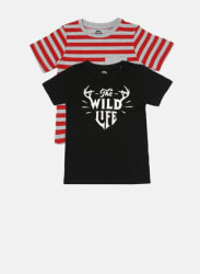 Pack Of 2 Black Striped T-Shirts