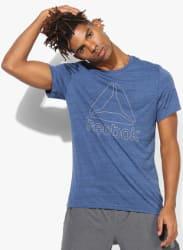 El Marble Group Training Blue Round Neck T-Shirt