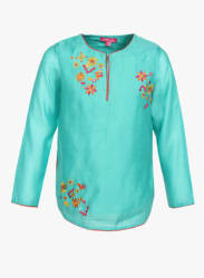 Turquoise Casual Top