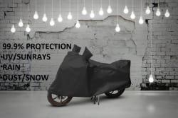 Water Resistant, Dustproof, UV-Guard Bike Body Cover for Monsoon for Bikes, Scooty, Activa upto 150 CC- Navy Blue