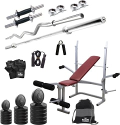 Headly 85 kg Combo BB 8 Convenient Home Gym Kit