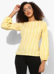 Yellow Checked Blouse