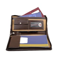 Coi Brown And Light Classy Brown Leatherette Cheque Book Holder/Document Holder