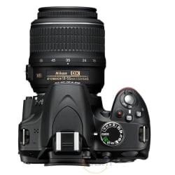 Nikon D3200 DSLR (with AF-S 18-55mm VRII Kit Lens), black