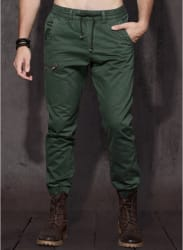 Green Solid Joggers