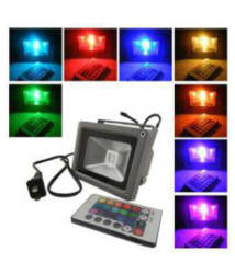 Galaxy Lighting 10 watt with remote control Flood Light Cool Day Light - Pack of 1