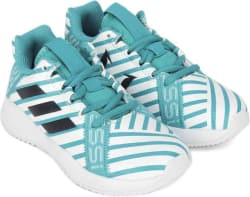 ADIDAS Boys & Girls Lace Running Shoes Green