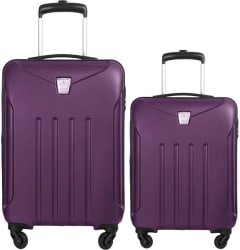 Aristocrat samurai set of 2 bags 65 cms and 55 cms Check-in Luggage - 25 inch (Purple)