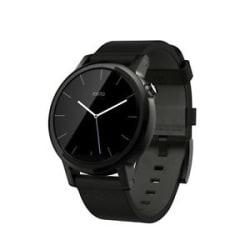 Like New Moto 360 (2nd Gen) Mens 42mm - Black Leather- 6 Months Moto Warranty