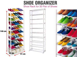 10 Layers Collapsible Shoe Rack (Carry Upto 30 Pairs)