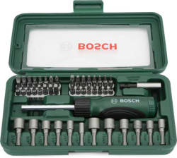 Bosch 46 Piece Screwdriver Set (Black and Silver) (Pack of 46)